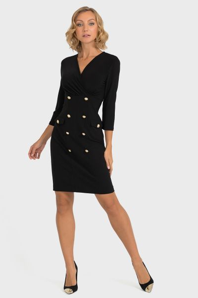 Joseph Ribkoff Black Dress Style 193014