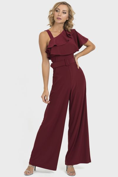 Joseph Ribkoff Imperial Red Jumpsuit Style 193054