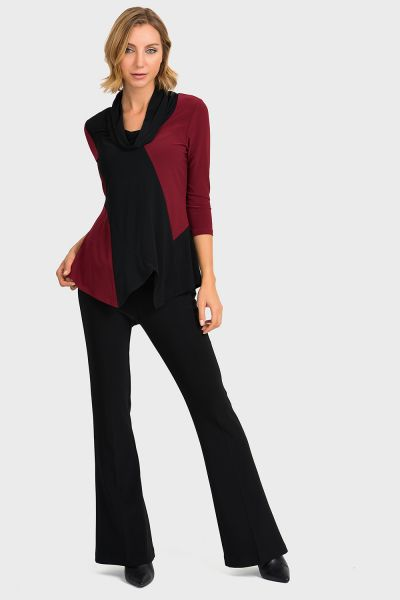 Joseph Ribkoff Imperial Red/Black Top Style 193142