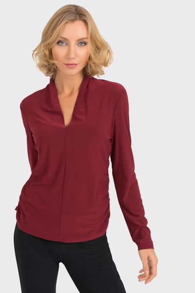 Joseph Ribkoff Imperial Red Top Style 193156