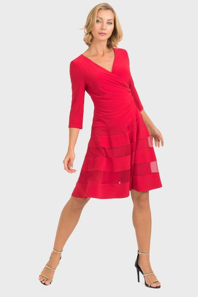 Joseph RIbkoff Lipstick Red Dress Style 193293