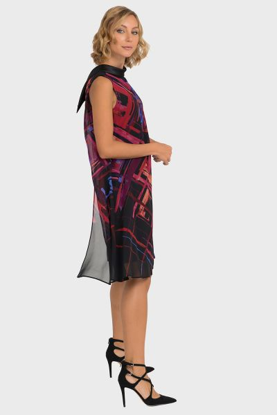 Joseph Ribkoff Black/Multi Dress Style 193568