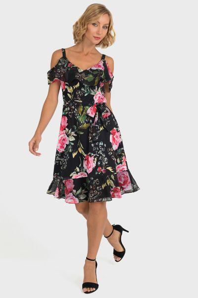 Joseph Ribkoff Black/Multi Dress Style 193585