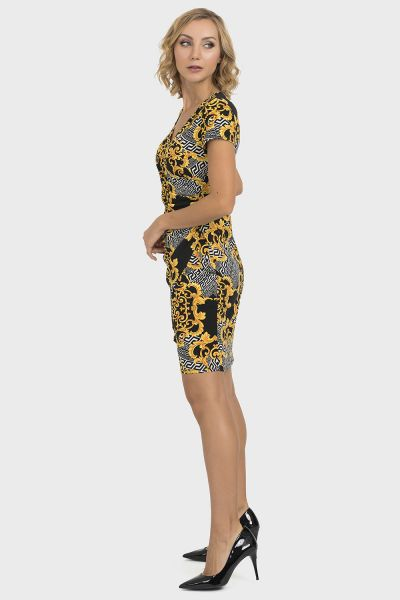 Joseph Ribkoff Black/Gold Dress Style 193590