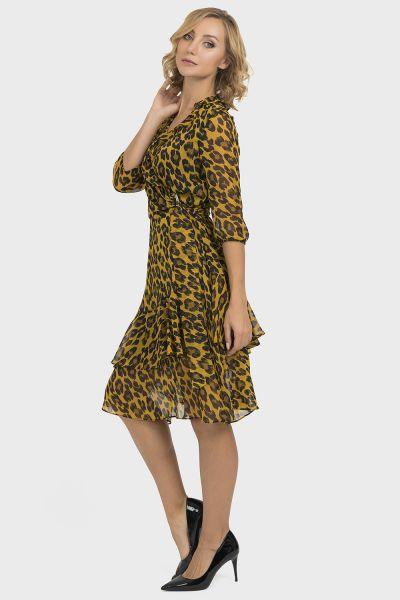 Joseph Ribkoff Black/Gold Dress Style 193642