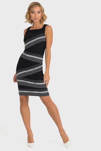 Joseph Ribkoff Black/White Dress Style 193675