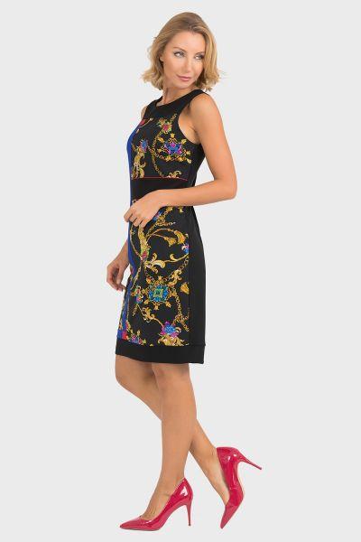 Joseph Ribkoff Black/Multi Dress Style 193677