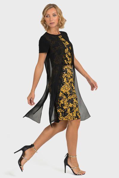 Joseph Ribkoff Black/Gold Dress Style 193698