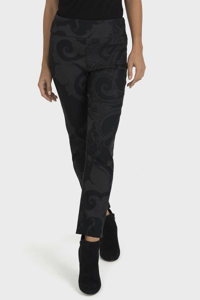Joseph Ribkoff Black/Grey Pant Style 193732