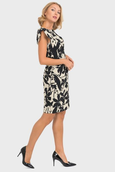 Joseph Ribkoff Beige/Black Dress Style 193735