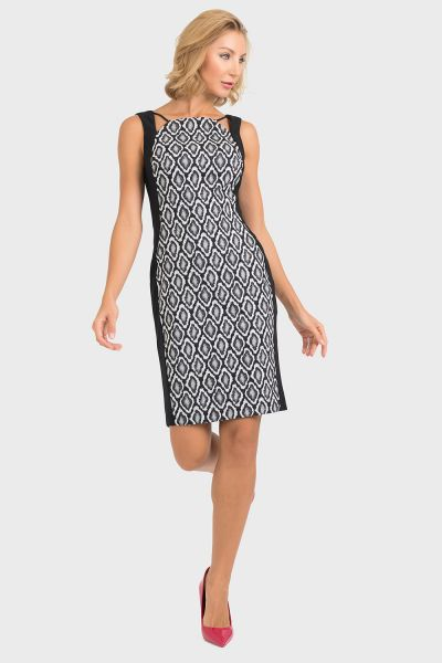 Joseph Ribkoff Black/Grey Dress Style 193739