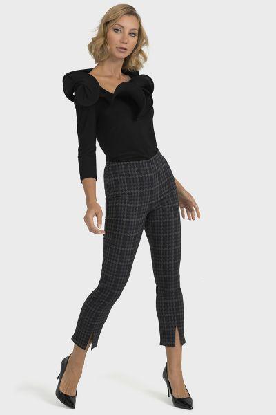 Joseph Ribkoff Grey/Black Pant Style 193740