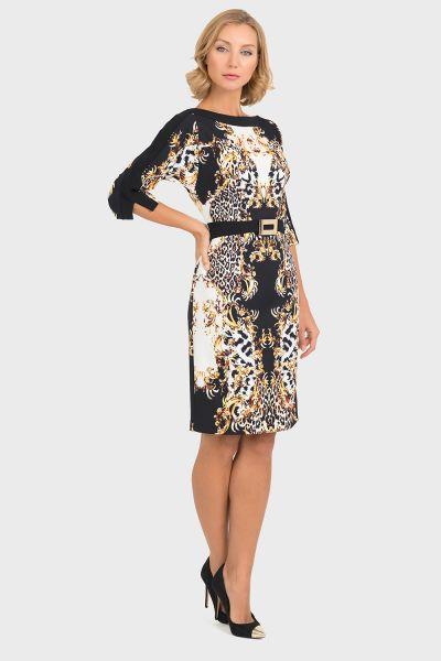 Joseph Ribkoff Black/Gold Dress Style 193746