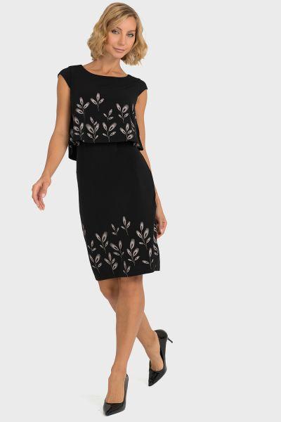 Joseph Ribkoff Black/Beige Dress Style 193751