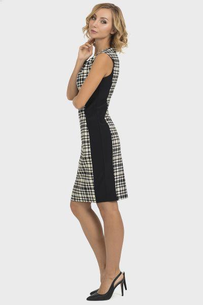 Joseph Ribkoff Black/Ecru Dress Style 193843