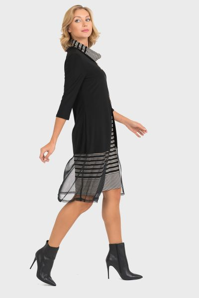 Joseph Ribkoff Black/Oatmeal Dress Style 193866