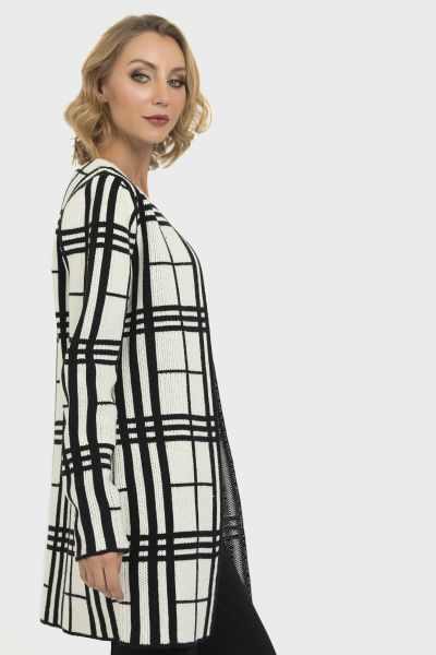Joseph Ribkoff Black/White Cover Up Style 193877