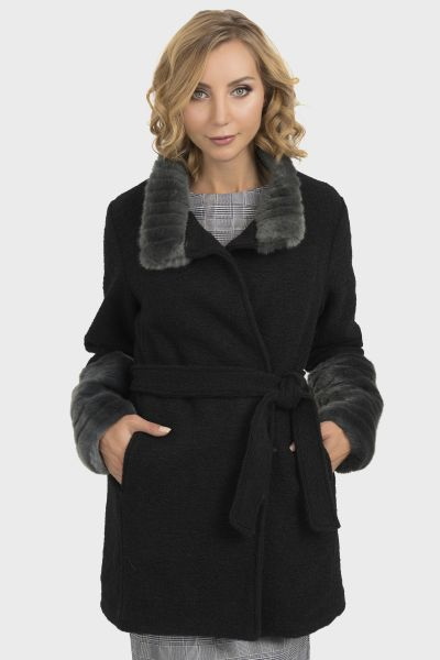 Joseph Ribkoff Black/Grey Coat Style 193929
