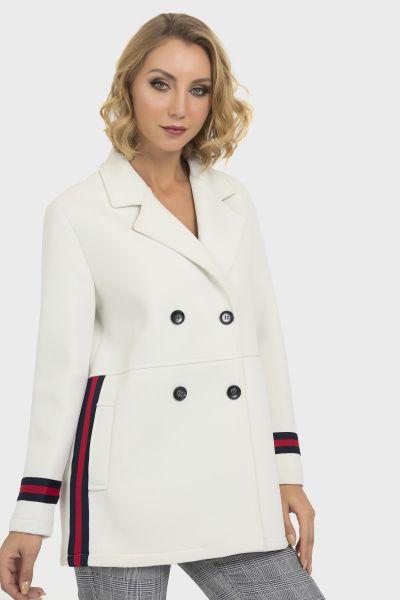 Joseph Ribkoff Off White Coat Style 193930
