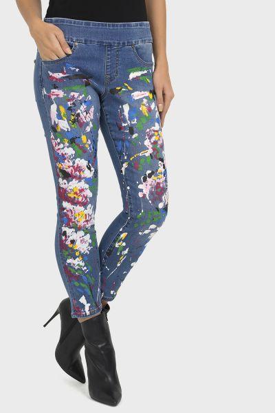 Joseph Ribkoff Blue Denim Pants Style 193985