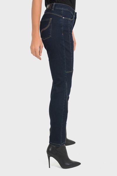 Joseph Ribkoff Blue Denim Pants Style 193993