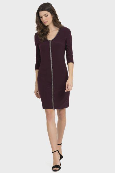 Joseph Ribkoff Blackberry Dress Style 194002
