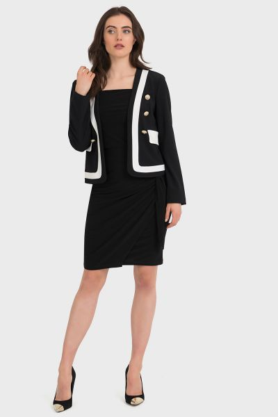 Joseph Ribkoff Black/Vanilla Jacket Style 194190