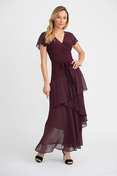 Joseph Ribkoff Cranberry Dress Style 194207