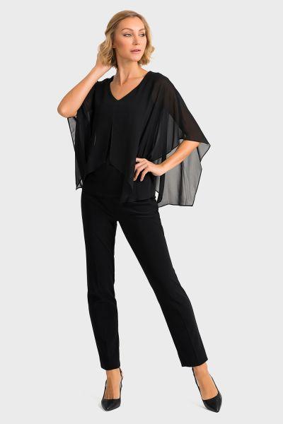 Joseph Ribkoff Black Blouse Style 194231