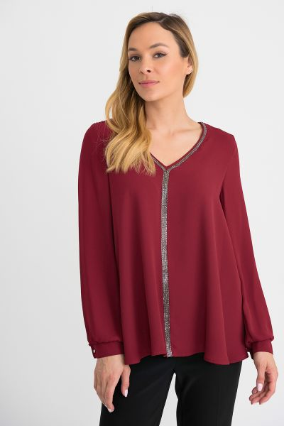 Joseph Ribkoff Imperial Red Top Style 194232