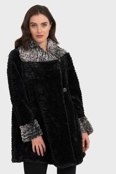 Joseph Ribkoff Black Coat Style 194501
