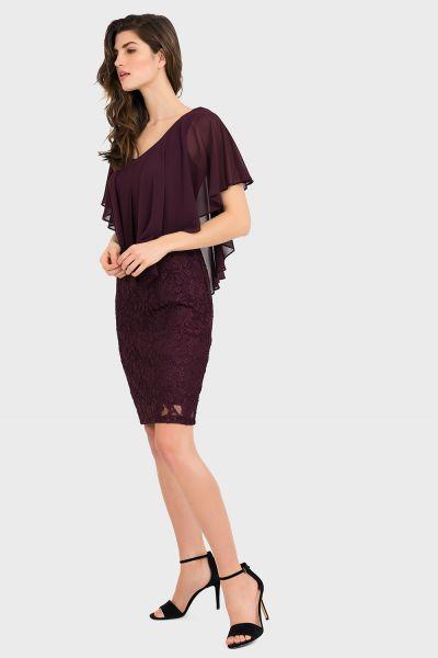 Joseph Ribkoff Blackberry Dress Style 194516