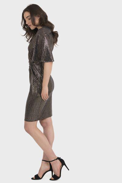Joseph Ribkoff Black/Gold Dress Style 194541 - Main