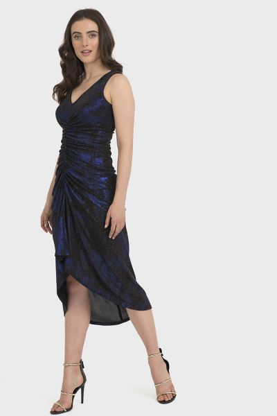 Joseph Ribkoff Black/Blue Dress Style 194553