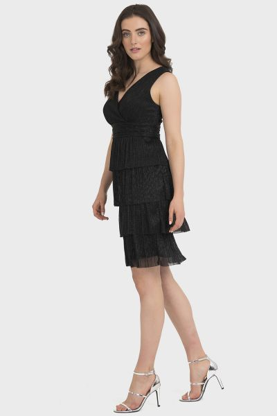 Joseph Ribkoff Black/Silver Dress Style 194560