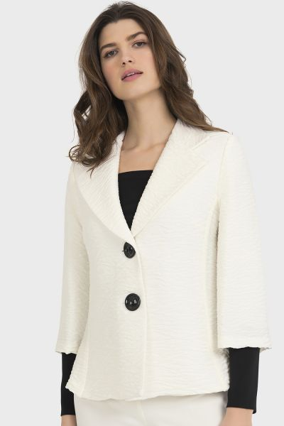 Joseph Ribkoff Off-White/Black Jacket Style 194571