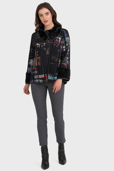 Joseph Ribkoff Black/Multi Jacket Style 194611