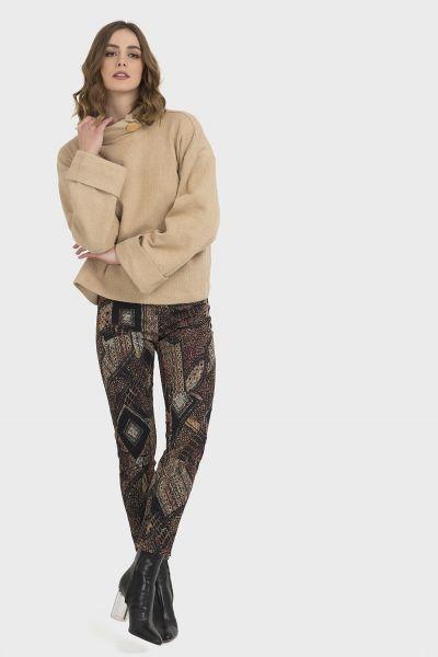 Jospeh Ribkoff Black/Multi Pants Style 194615