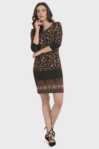 Joseph Ribkoff Black/Multi Dress Style 194622