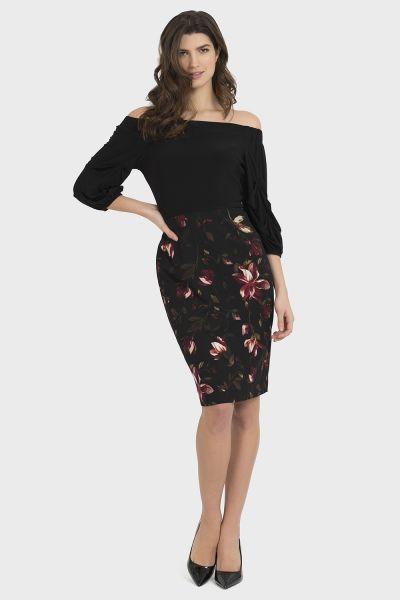 Joseph Ribkoff Black/Multi Dress Style 194626