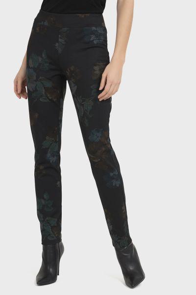 Joseph Ribkoff Black/Multi Pant Style 194637