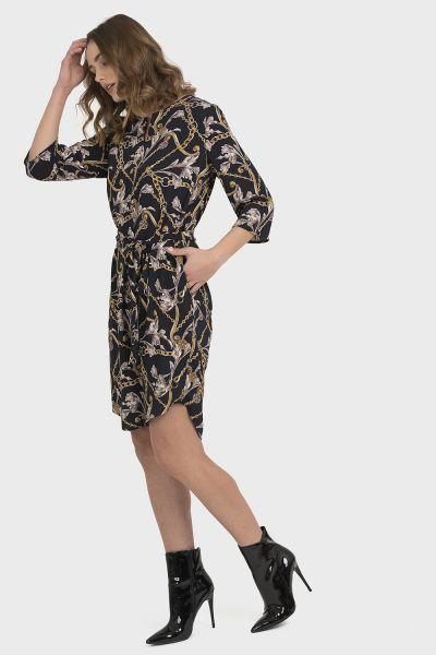 Joseph Ribkoff Black/Multi Dress Style 194648