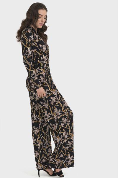 Joseph Ribkoff Black/Multi Jumpsuit Style 194650