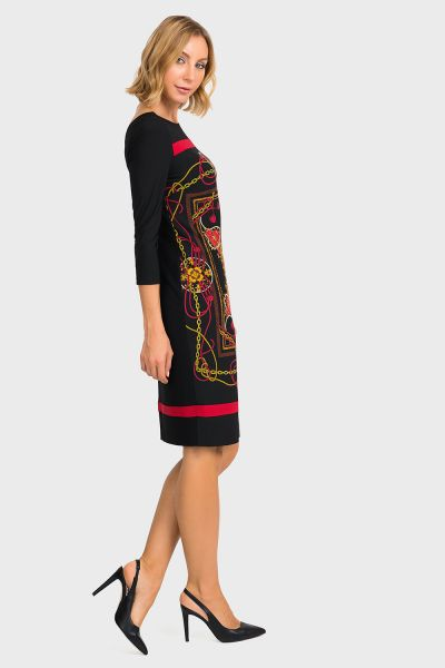 Joseph Ribkoff Black/Multi Dress Style 194652