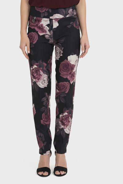 Joseph Ribkoff Black/Multi Pants Style 194664