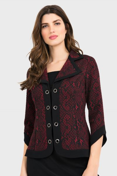 Joseph Ribkoff Black/Red Jacket Style 194665