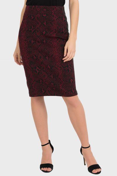 Joseph Ribkoff Black/Red Skirt Style 194666