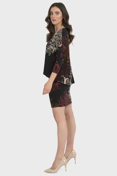 Joseph Ribkoff Black/Mutli Dress Style 194668