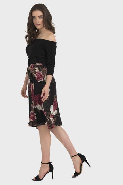 Joseph Ribkoff Black/Multi Dress Style 194678