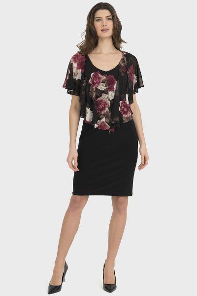 Joseph Ribkoff Black/Multi Dress Style 194679